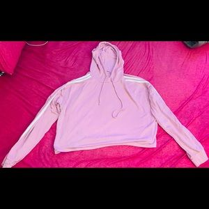 Cali Light Pink Hoodie with White Stripes